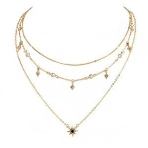 ⭐️Multi-layer Crystal Star Necklace